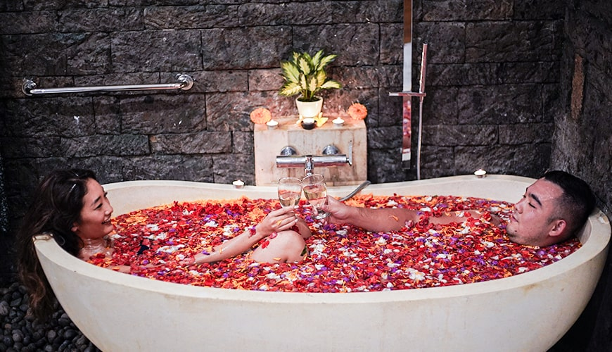 Jaens Spa - Couple Flower Bath 41